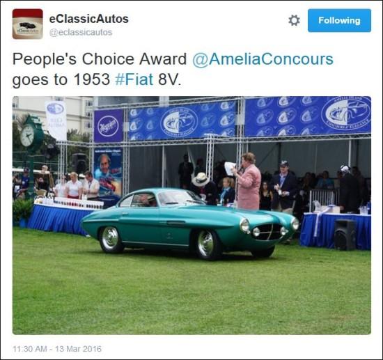 2016 Amelia Concours winner