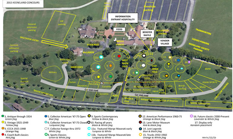 Keeneland Concours d'Elegance - 2015 map